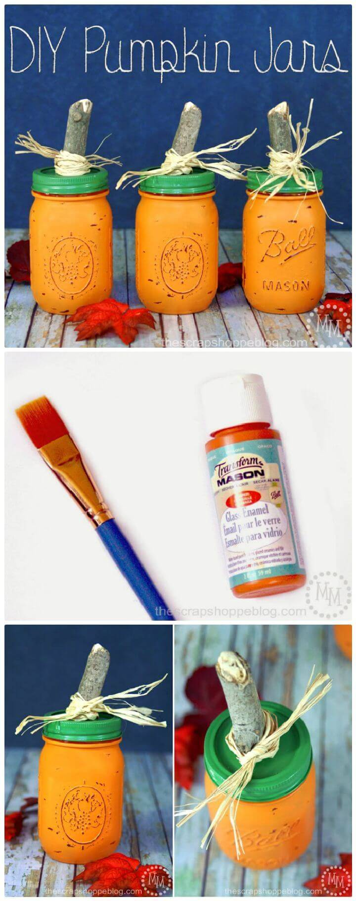 DIY Pumpkin Jars