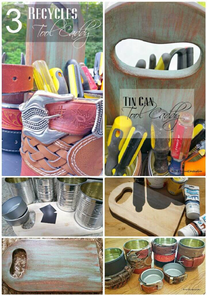 DIY Recycled Can Tool Caddy