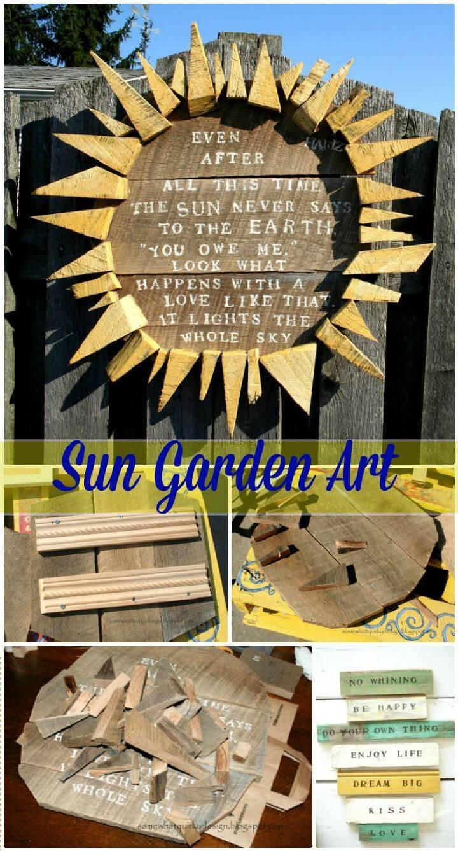 DIY Sun Garden Art
