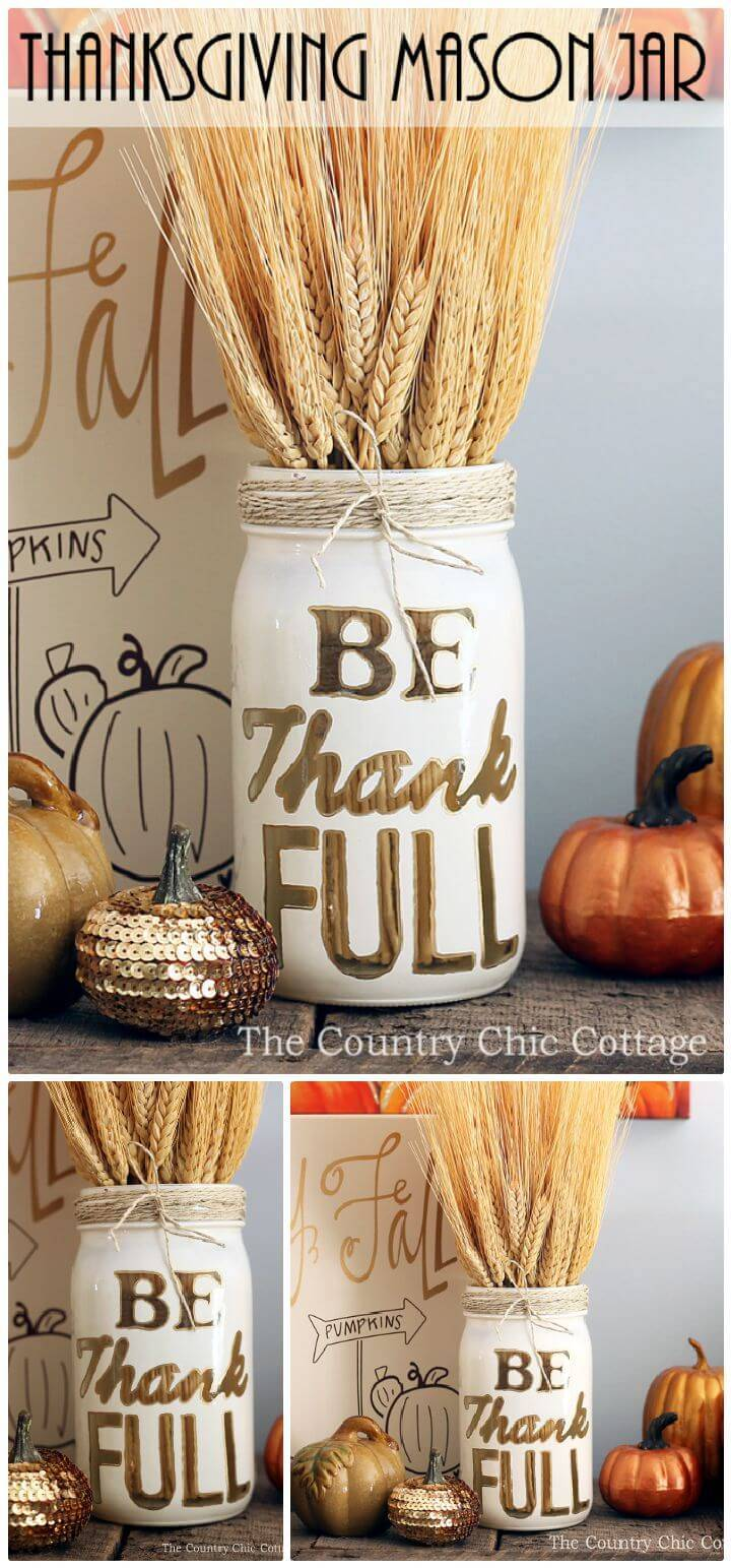 DIY Thanksgiving Mason Jar Craft