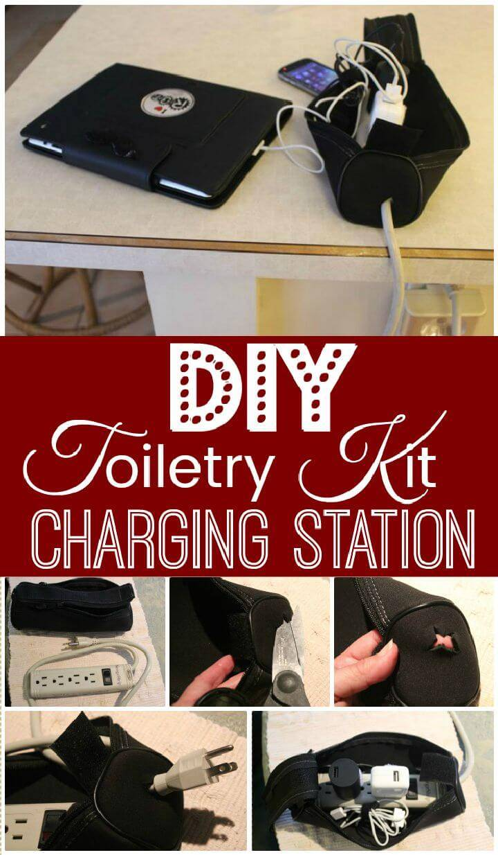 DIY Toiletry Kit Charging Station