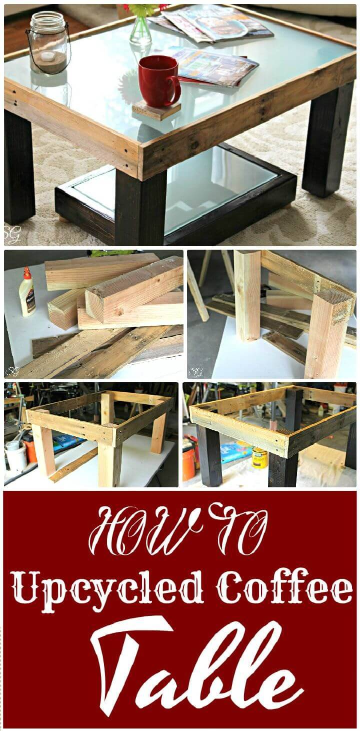 DIY Upcycled Coffee Table