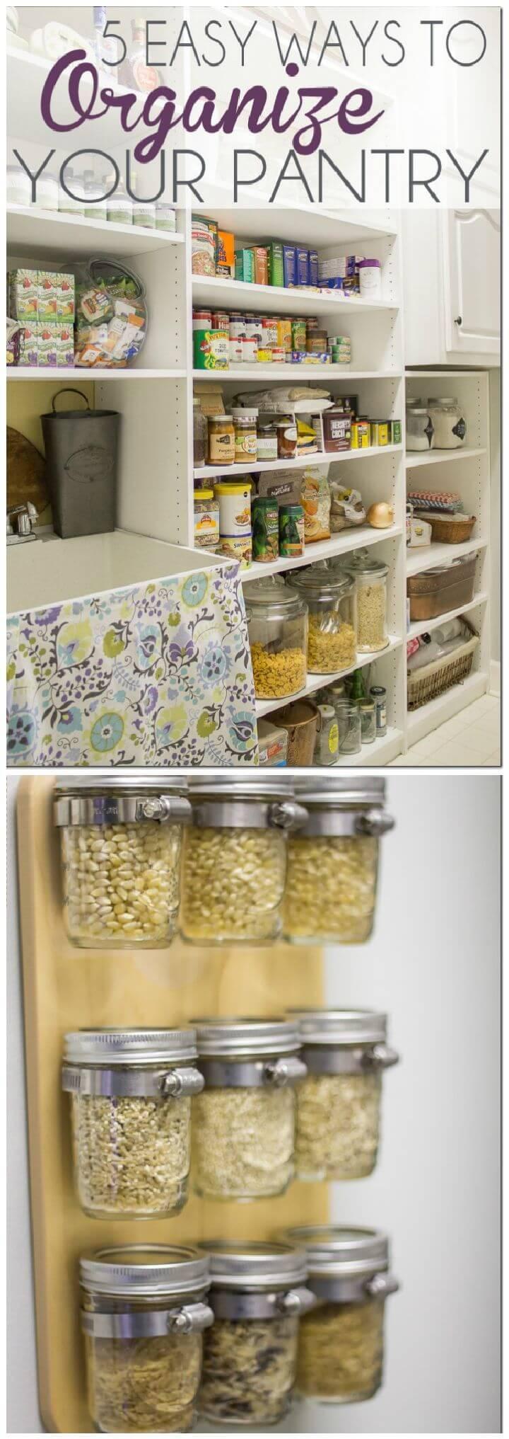 Easy Ways Organize Pantry