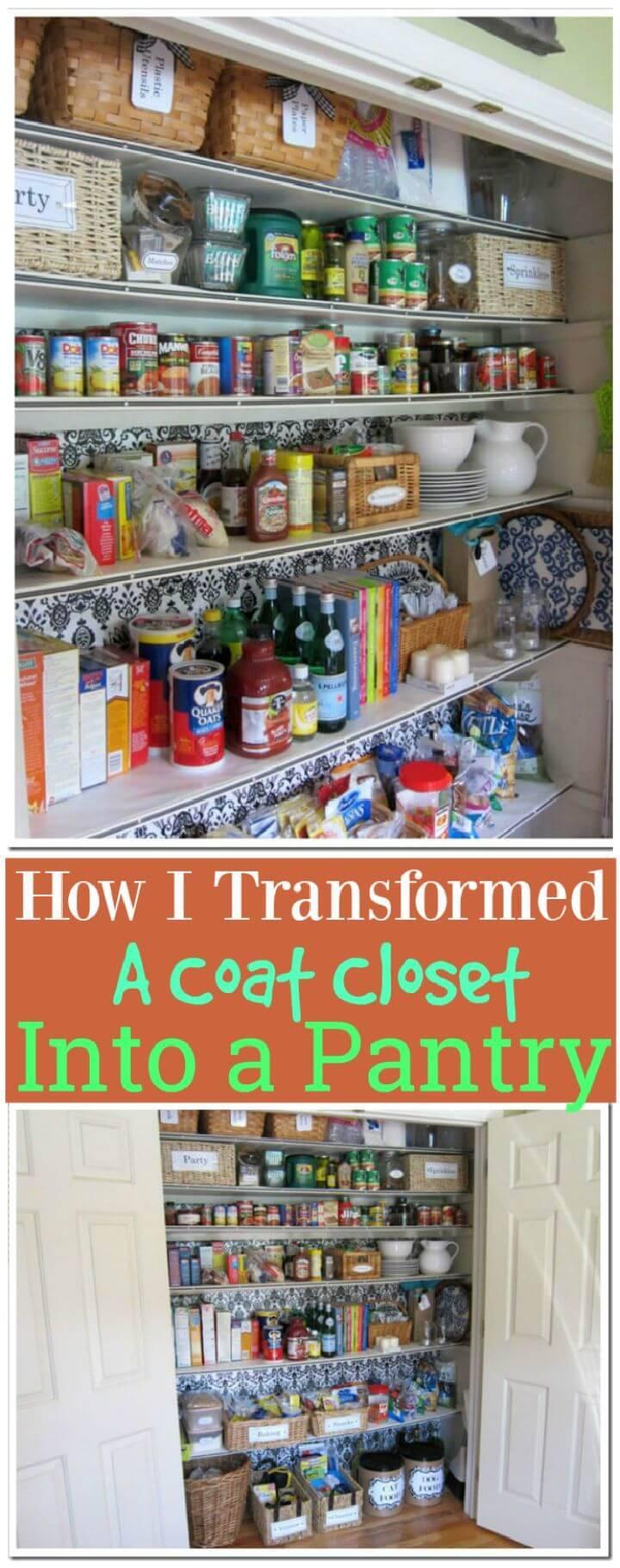 How I Transformed a Coat Closet Into a Pantry