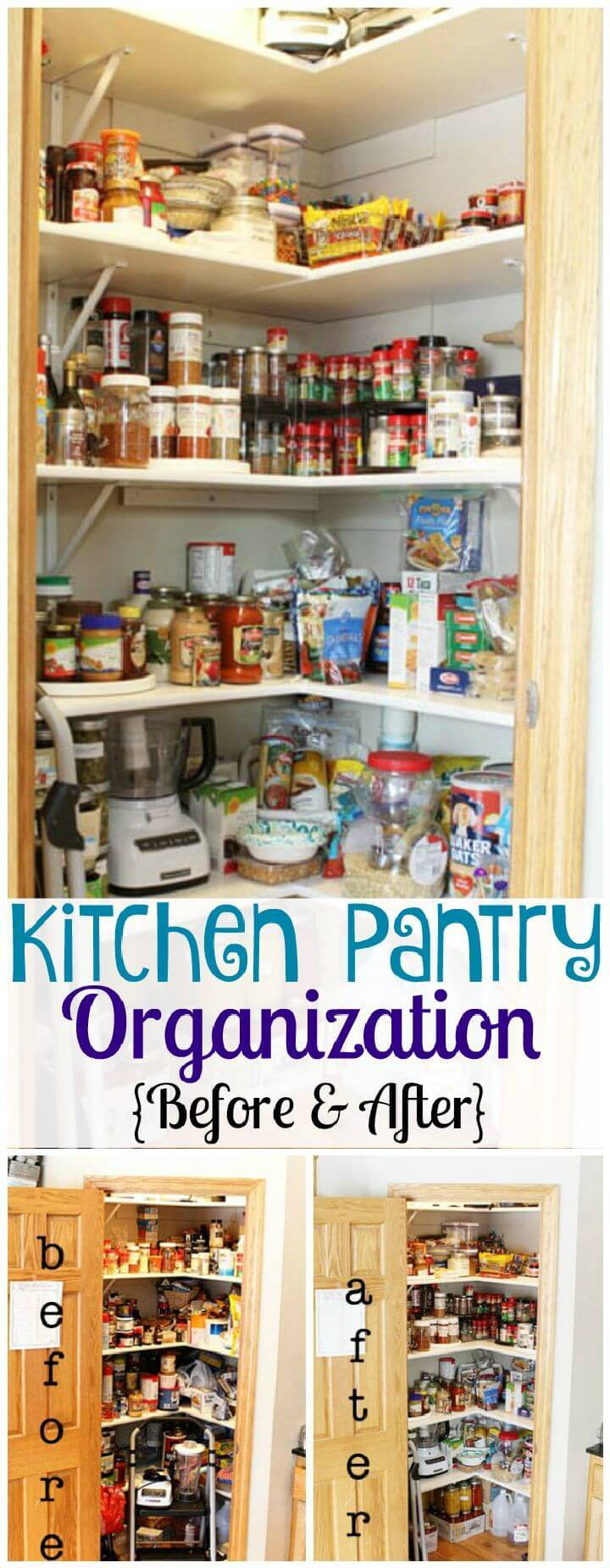Kitchen Pantry Organization Before & After