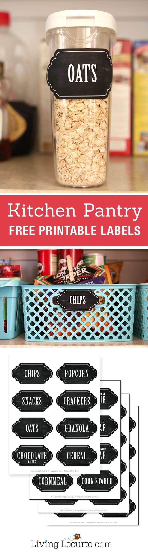 Kitchen Pantry Organization Free Printable