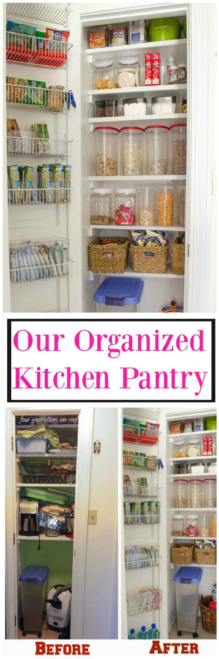 Our Organized Kitchen Pantry