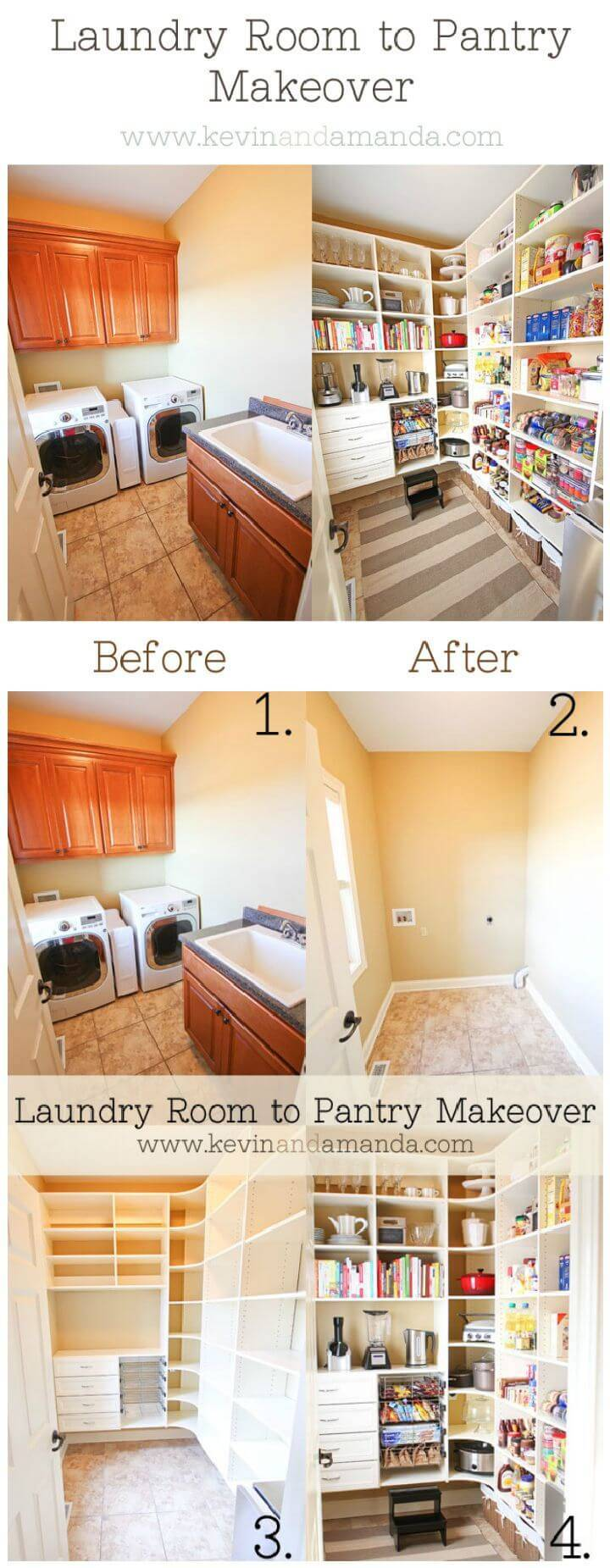 Pantry Makeover Before And After Photos!