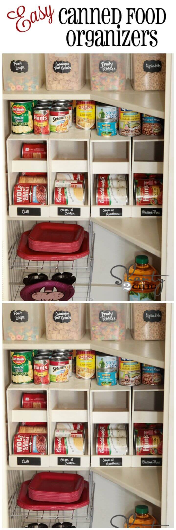 Stackable Canned Food Organizers