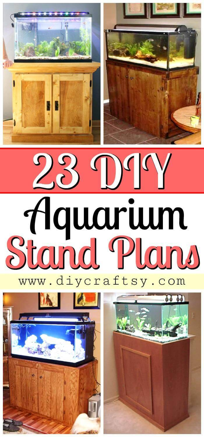 23 DIY Aquarium Stand Plans - DIY Aquarium Stand Ideas - DIY Fish Tank Stands