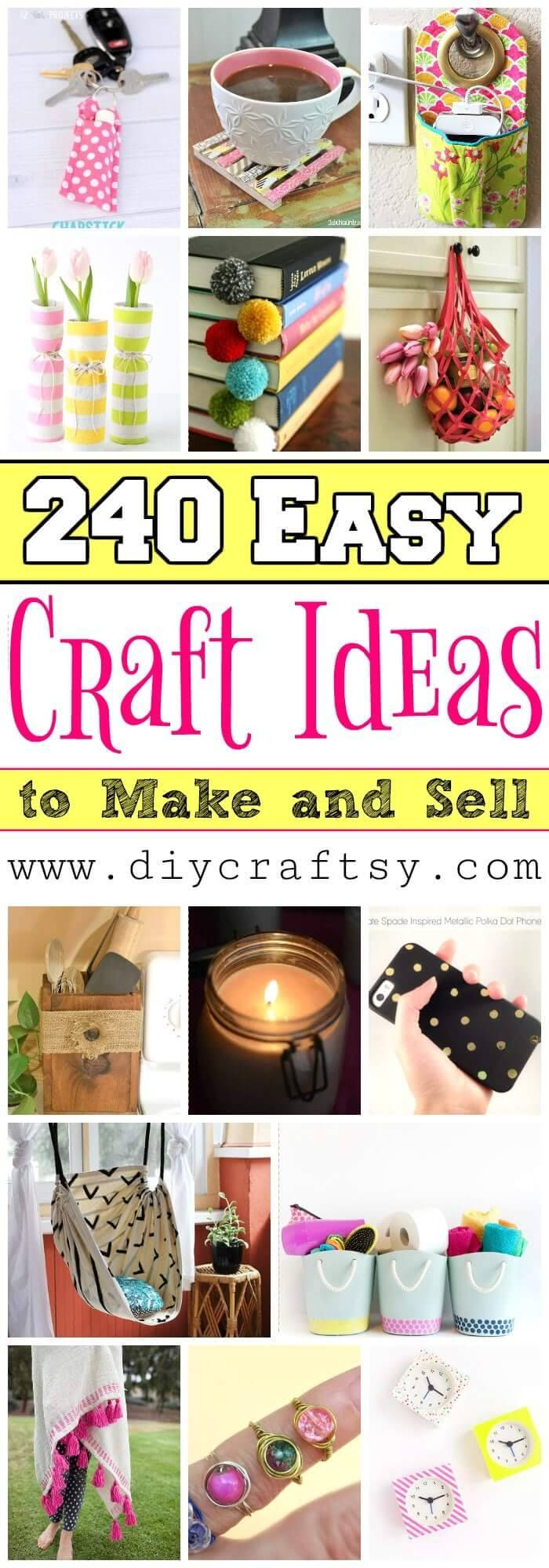 240 easy craft ideas to make and sell diy crafts for Diy project ideas to sell