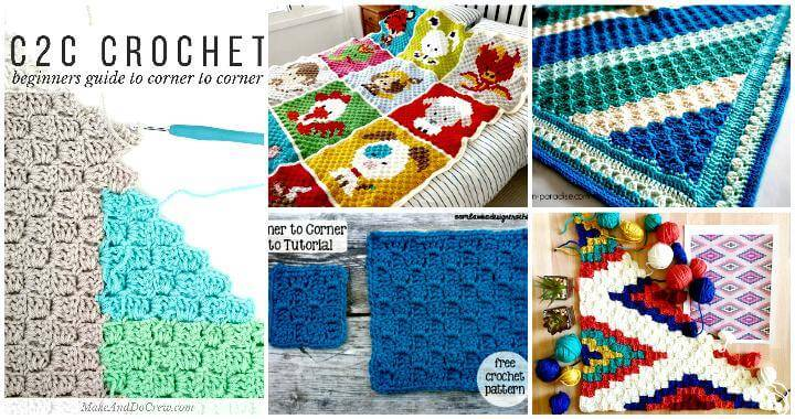 12 Best Guides to Learn Corner to Corner Crochet or C2C Crochet