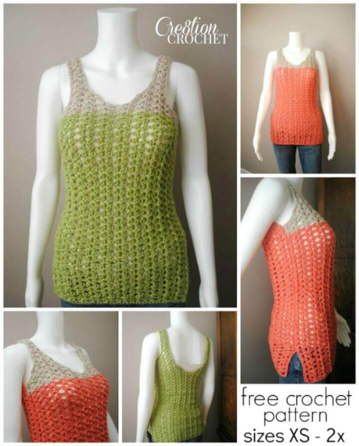 Free Crochet Tank Top Pattern