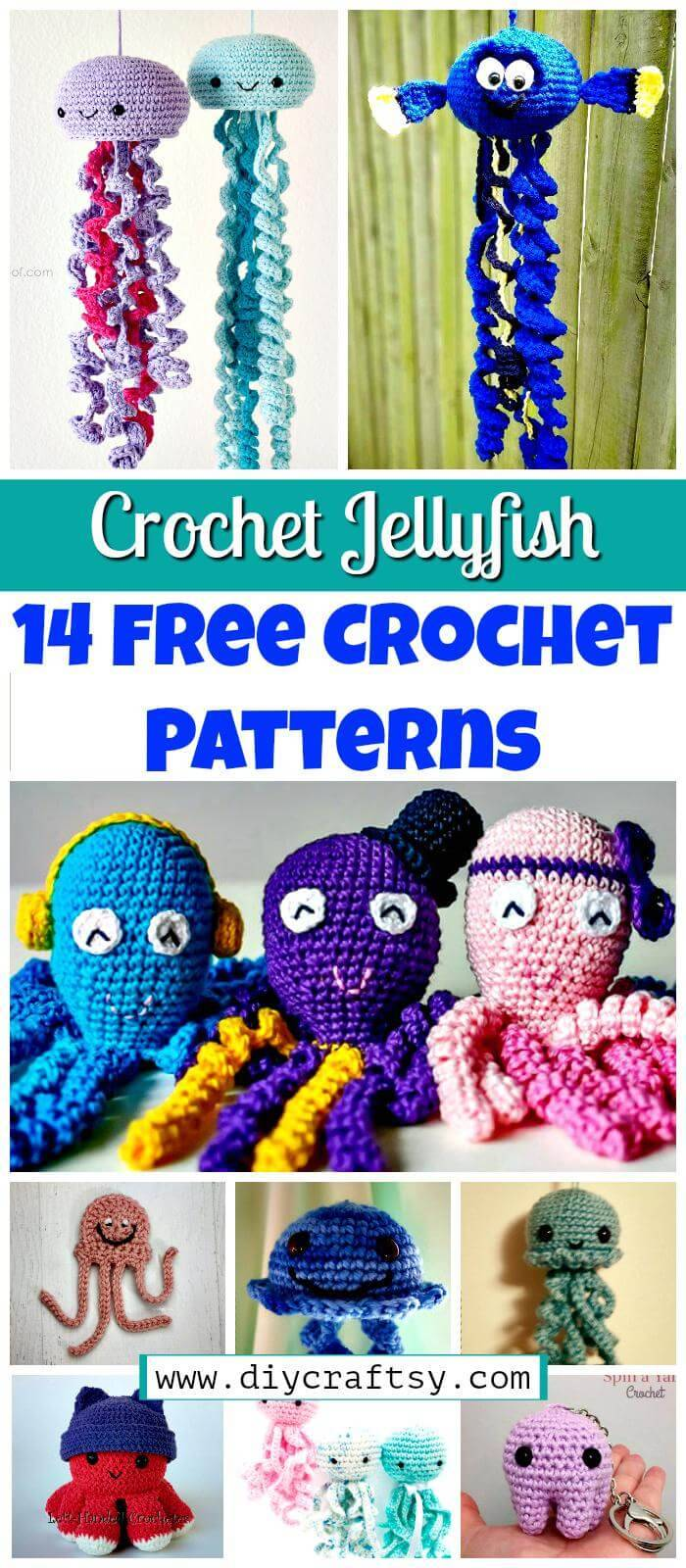 Crochet Jellyfish - 14 Free Crochet Patterns - Free Jellyfish Patterns