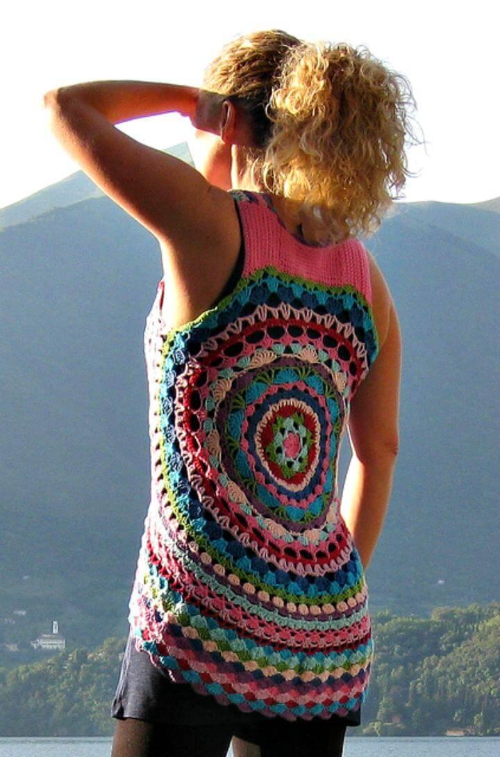 Crochet Circular Vest Jacket 10 Free Crochet Patterns Diy Crafts