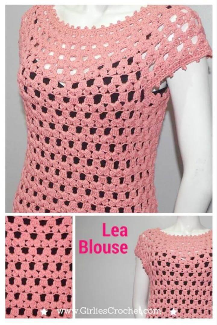 Crochet Lea Blouse - Free Pattern