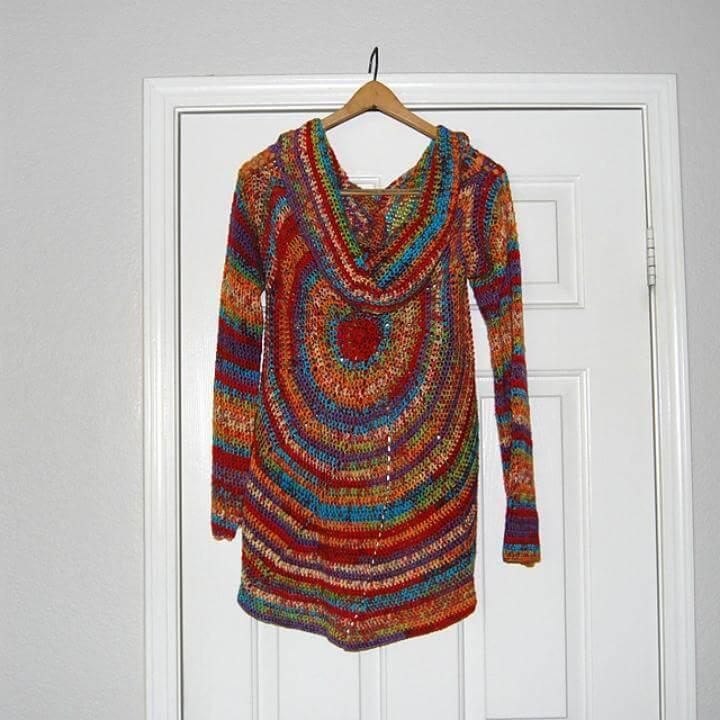 Crochet Pinwheel Sweater - Free Vest Circular Pattern