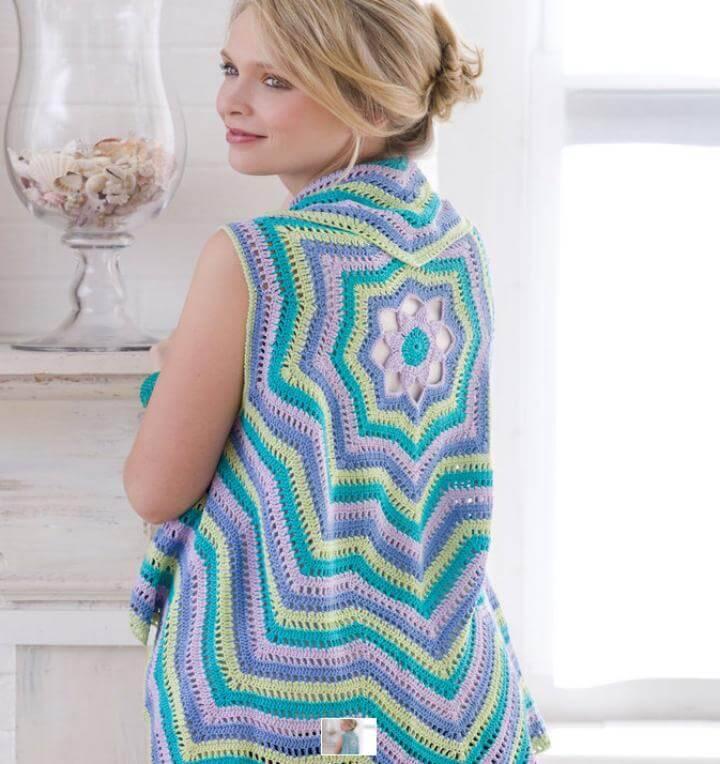 Crochet Rippling Vest - Free Vest Circular Patterns