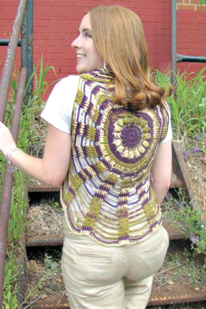 Crochet Unchained Circles Vest - Free Vest Circular Patterns