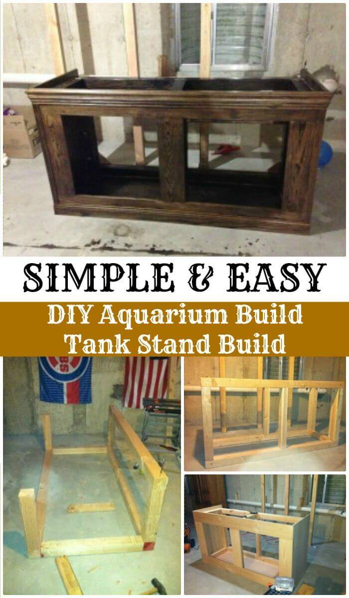 DIY Aquarium Build Tank Stand Build, Easy Fish Tank Stand ideas and Projects