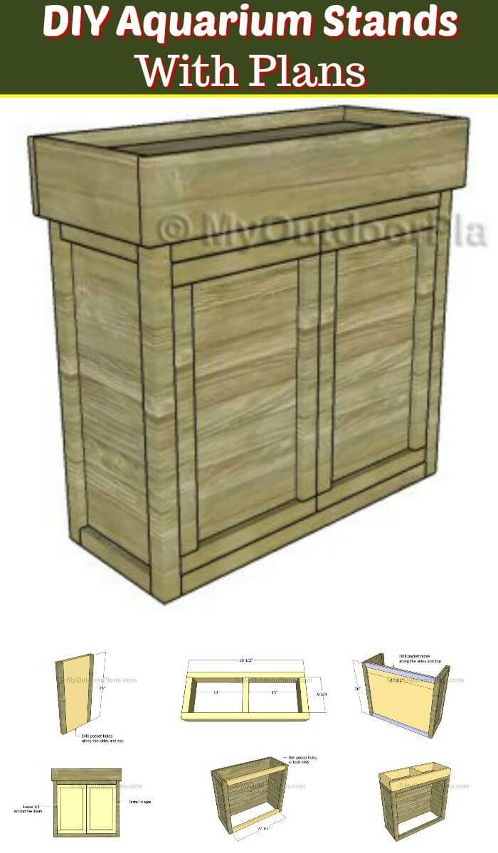 DIY Aquarium Stands with Plans, diy fish tank stands plans for free
