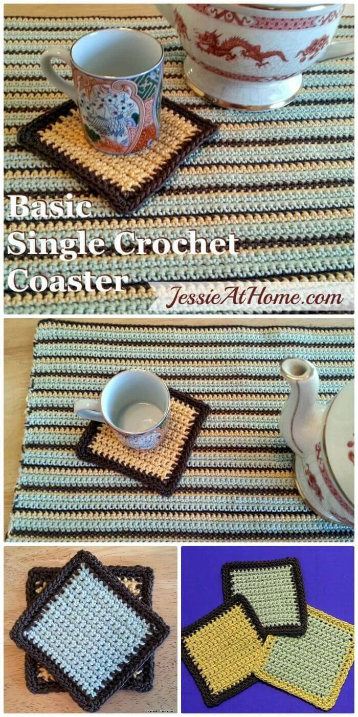 70 easy free crochet coaster patterns for beginners page 14 of the crochet beginners can really have the fun while making these immense easy and cute single crochet coasters and present them as the most heartwarming bankloansurffo Gallery