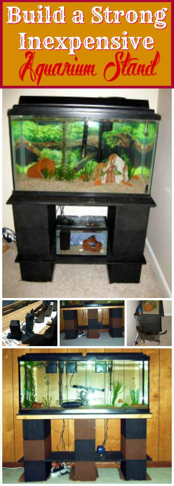 23 DIY Aquarium Stand Plans - Page 3 of 4 - DIY & Crafts