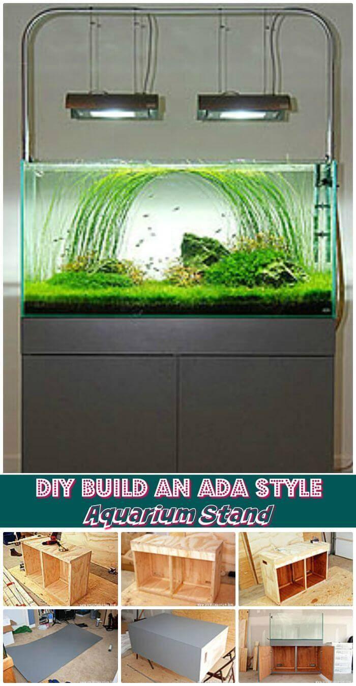 DIY Build An ADA Style Aquarium Stand, beautiful diy aquarium stand ideas with easy free plans