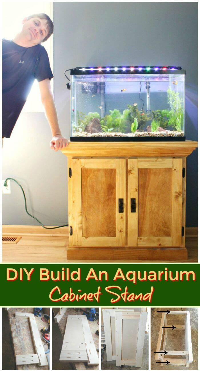 DIY Build An Aquarium Cabinet Stand, low-cost diy aquarium stand ideas with step-by-step instructions