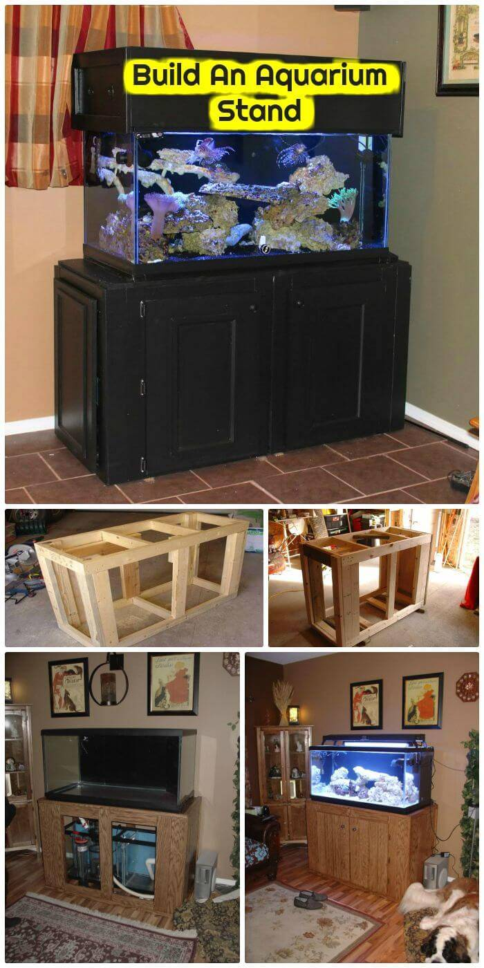 DIY Build An Aquarium Stand, how to build aquarium stand step-by-step tutorial