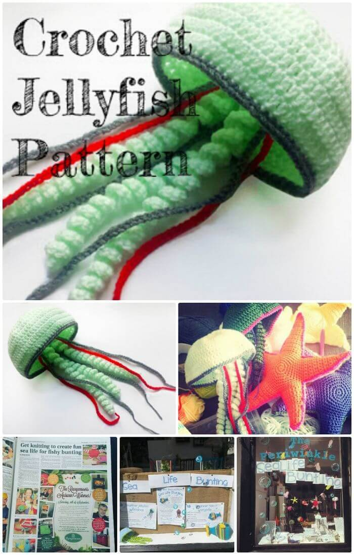 DIY Crochet Jellyfish Free Pattern, free crochet jelly fish patters