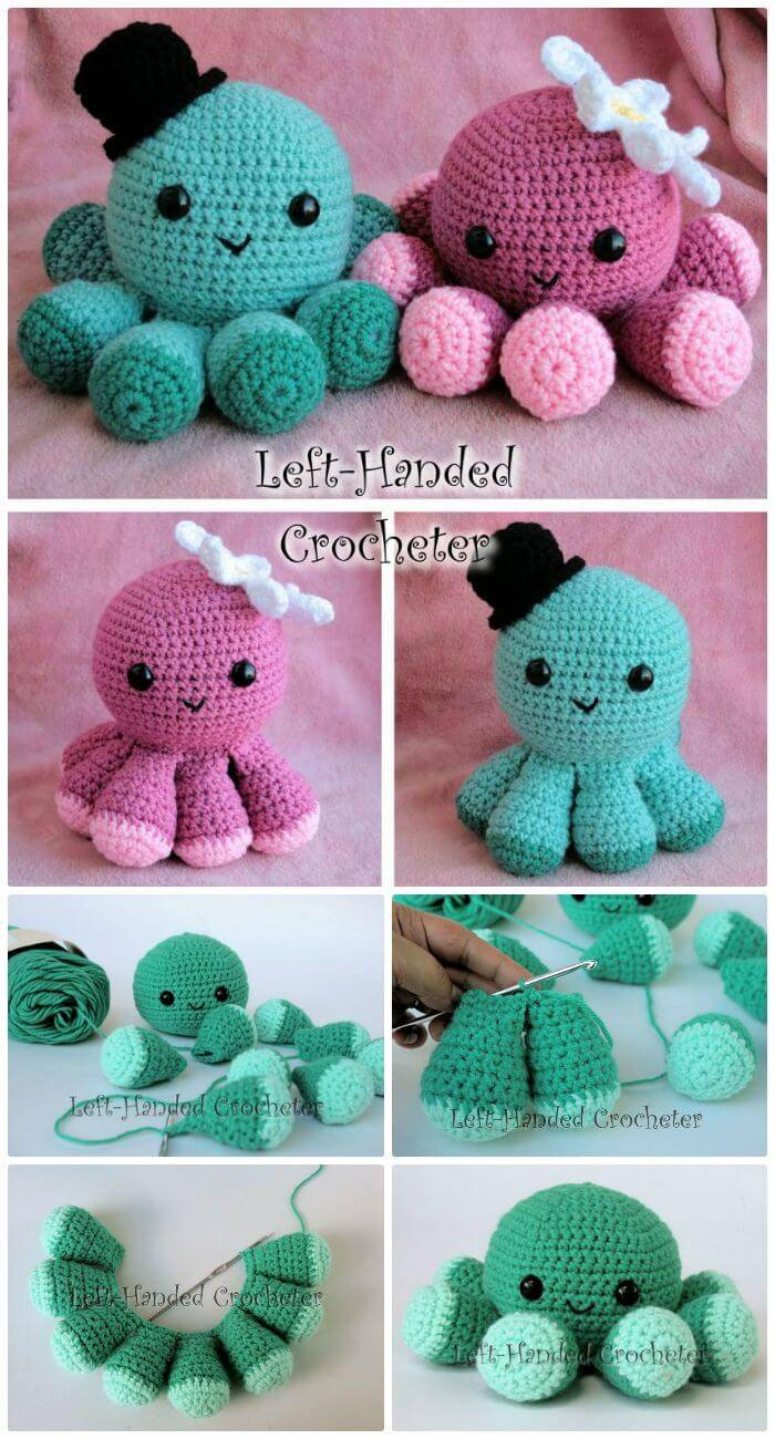 DIY Cute & Easy Octopus Frenzy, easy free crochet patterns for jellyfish