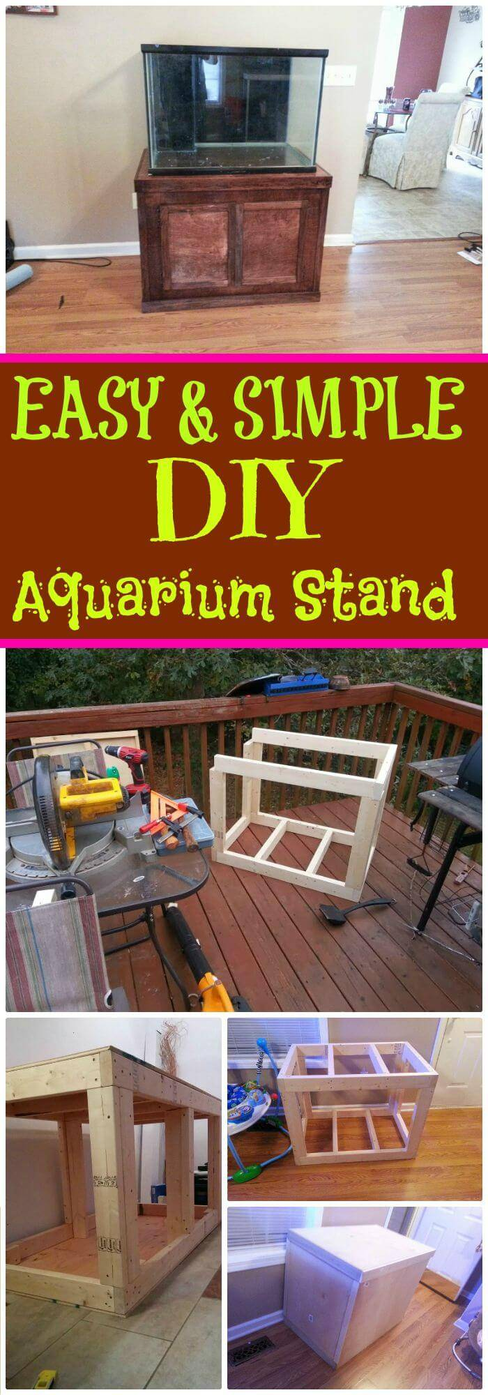 DIY Easy & Cute Aquarium Stand, insanely smart diy aquarium stand projects on a budget!