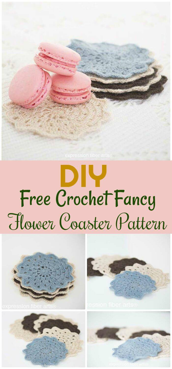 DIY Free Crochet Fancy Flower Coaster Pattern, How to crochet a coaster for beginners!