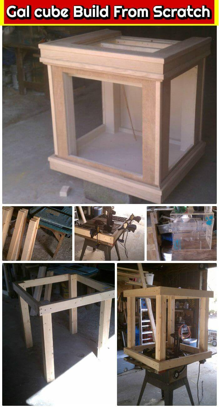 DIY Gal cube Build From Scratch, diy fish tank stands plans for free