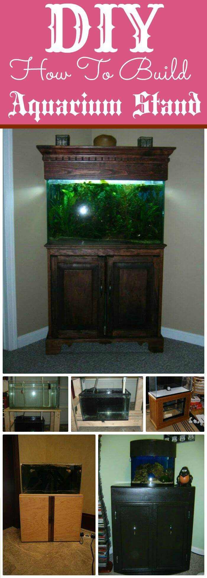 DIY Gorgious Aquarium Stand, Easy diy fish tank stand ideas and projects!