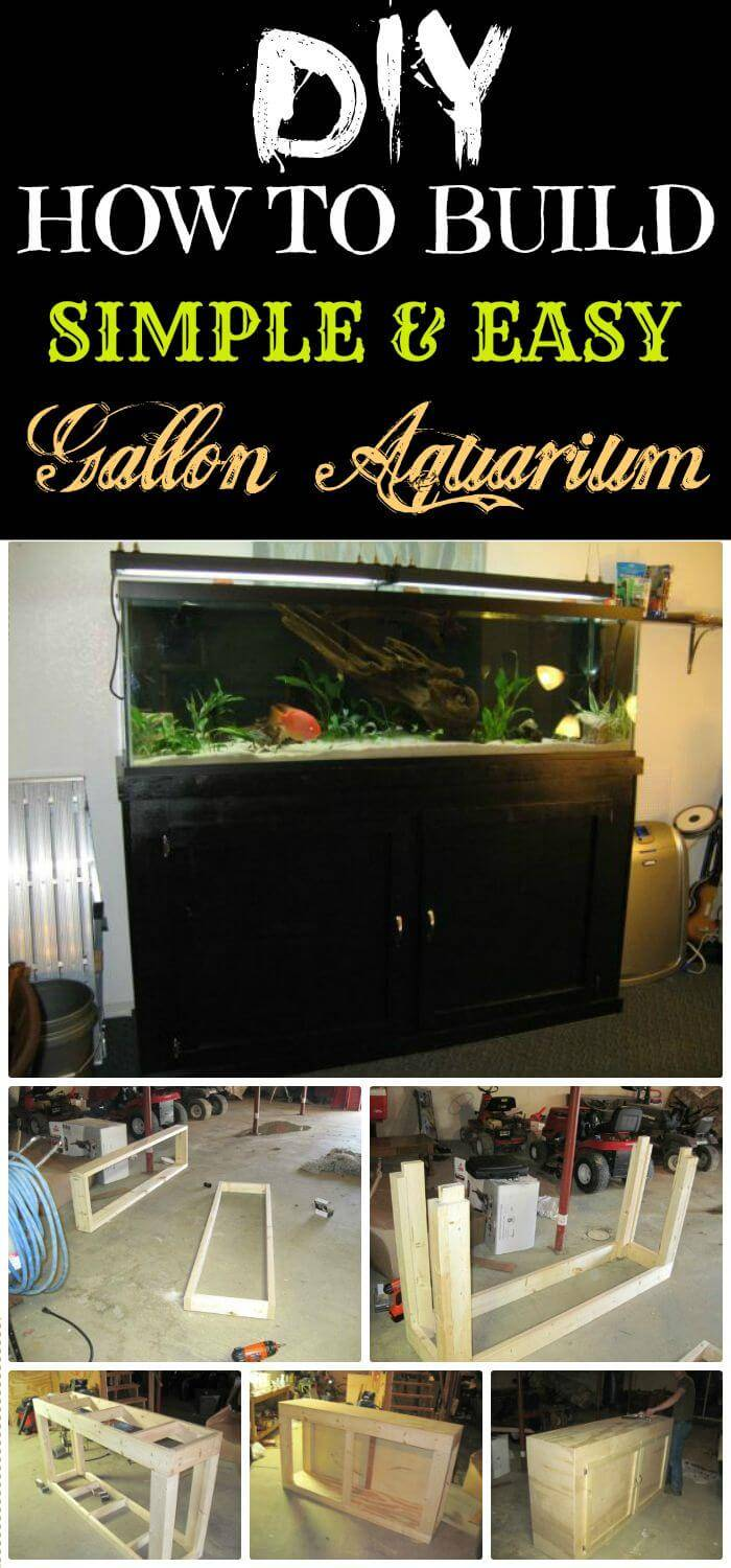 DIY How To Build Gallon Aquarium, easy but great diy aquarium stand ideas with free tutorials