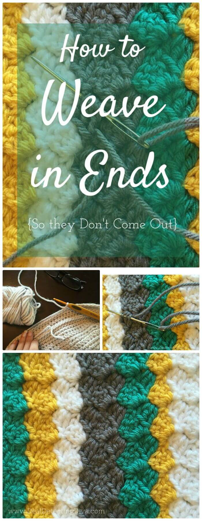 DIY Make Your Own Weave In Yarn Ends, learn corner-to-corner crochet!
