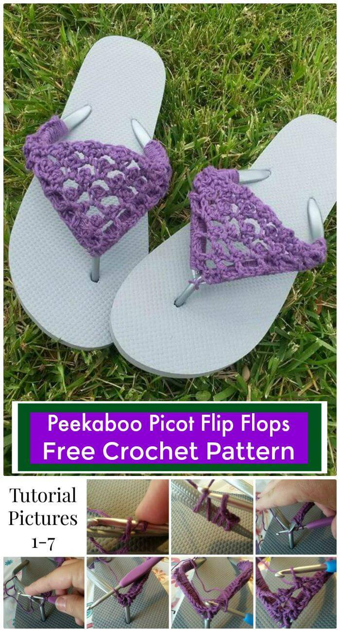 22 Crochet Slippers Boot Shoes Flip Flops Free Patterns