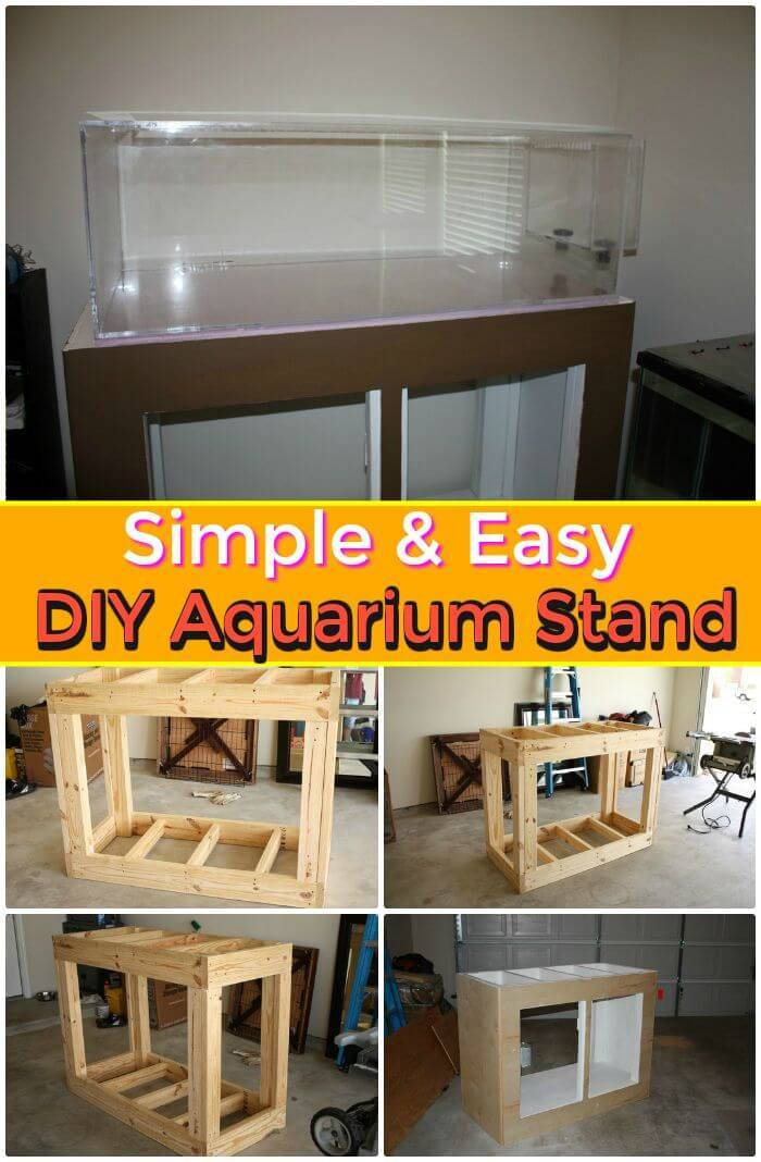 DIY Simple U0026 Easy Aquarium Stand, Beautiful Diy Aquarium Stand Ideas With  Easy Free Plans