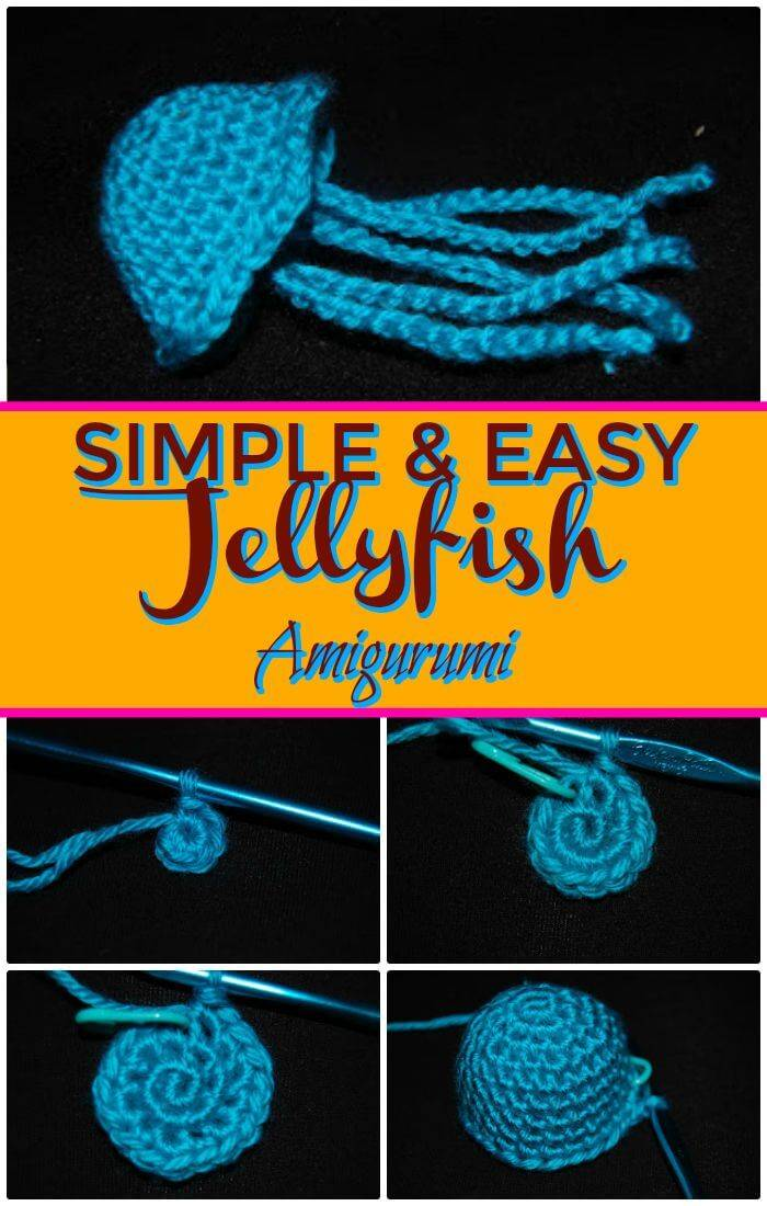 DIY Simple & Easy Jellyfish Amigurumi, easy guides about how to crochet a jelly fish