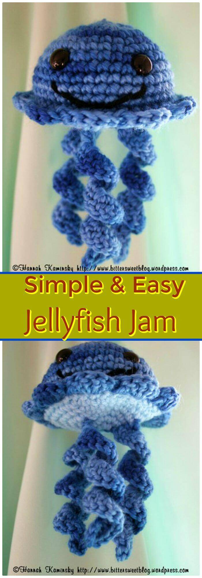 Crochet jellyfish 14 free crochet patterns diy crafts you have not seen ever a cuter jellyfish than this that comes with big eyes and has been crocheted with yarn would make a perfect gift for kids and also a bankloansurffo Choice Image