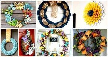 DIY Wreath Projects – 50 Easy DIY Wreath Ideas