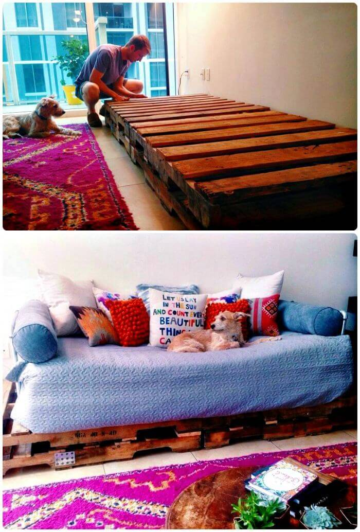 DIY Easy Pallet Couch - Pallet Furniture - Pallet Sofa