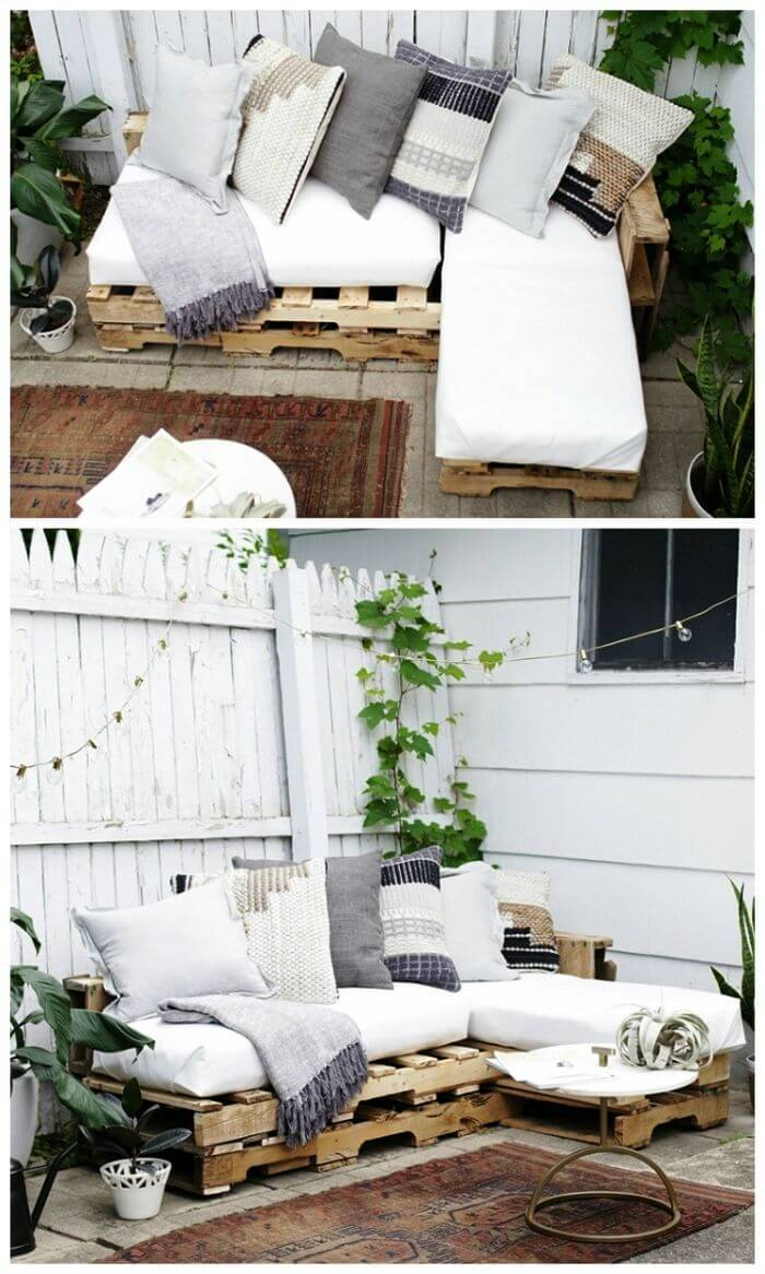 DIY Easy Pallet Sofa - DIY Pallet Sofa Projects