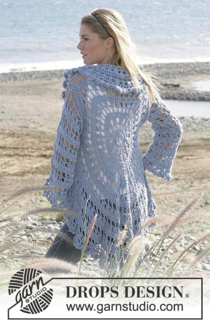 Free Crochet Moonlight Mist Vest Circular Patterns