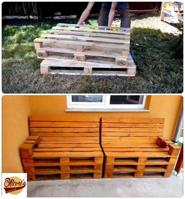 21 DIY Pallet Sofa Plans