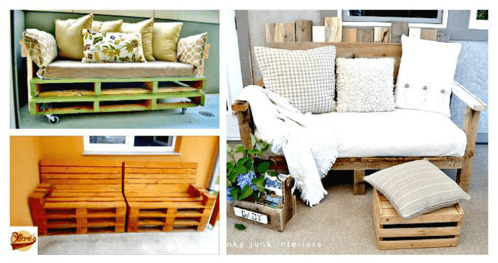 Pallet Sofa 21 Diy Pallet Sofa Plans Diy Crafts