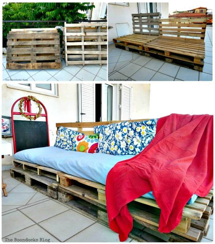 Wooden Pallet Sofa - Pallet Furniture Projects