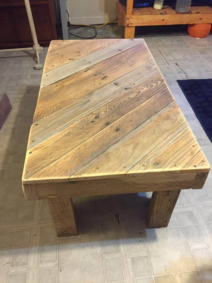 no-cost pallet coffee table